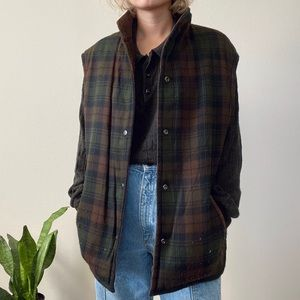 Reversible Suede and Flannel Vest